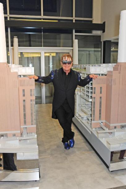 Sir Elton John Dazzles Crowd at Battersea Power Station