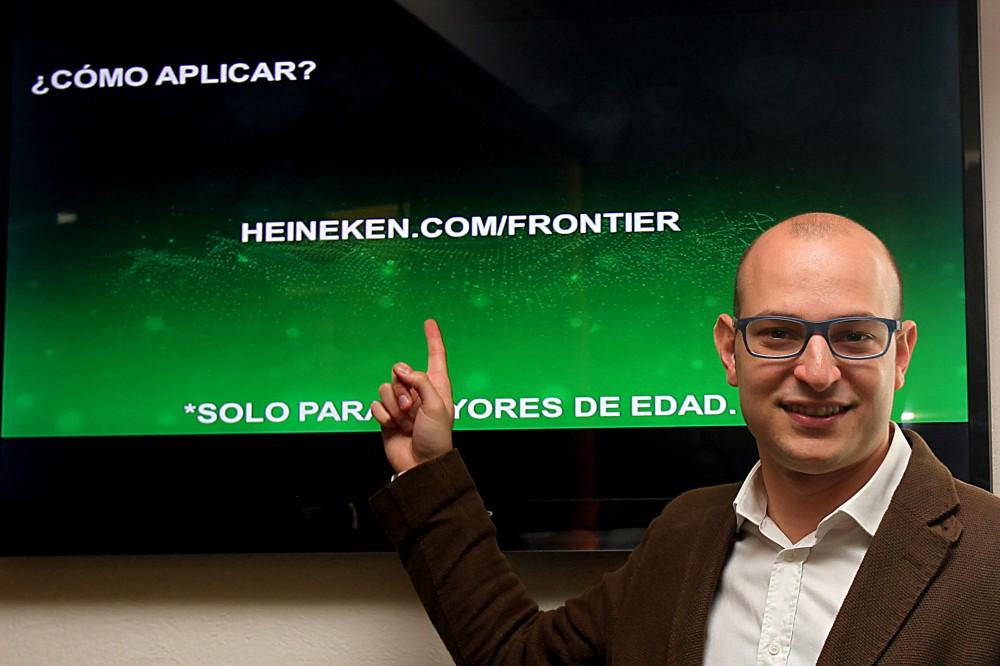 Alejandro Berman, Gerente de Heineken en el lanzamieno de Frontier