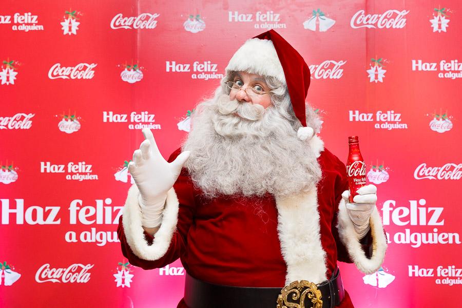 Santa con botella aluminio