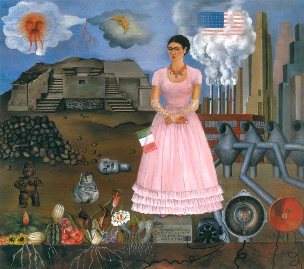 Foto 1 Frida Kahlo Autoritratto al confine tra Messico e Stati Uniti2