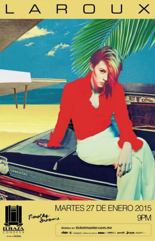 LA ROUX JAN 2015 CARTEL