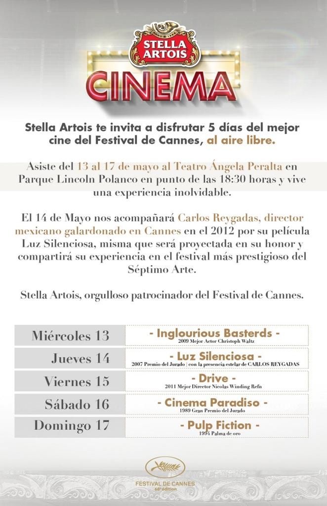 Cinema Stella Artois Programa
